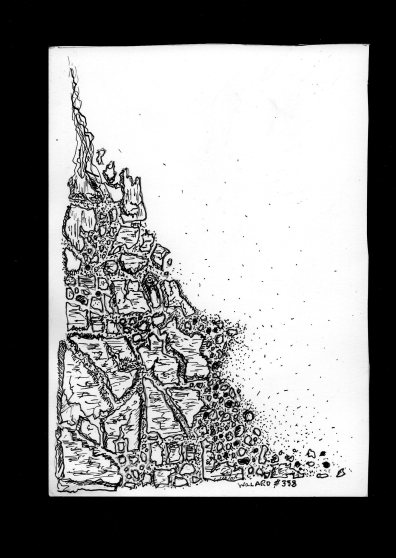 #338 broken pavement 4 17x12cm Pen & ubj