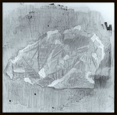 #479 Silver & copperpoint, ink wash, acrylic white