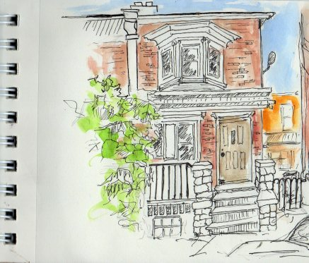 quick sketch from porch May 6 2016