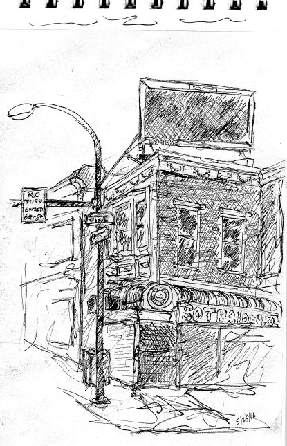 street sketch 52nd and Pine