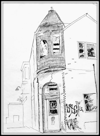 Street sketch 52nd and Walton, Philly