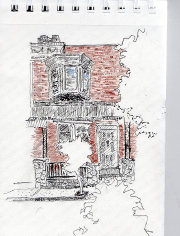 Street sketch Pine St 5-26-16