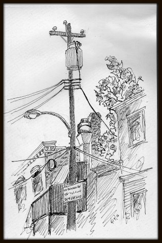 Street Sketch 53rd and Pine