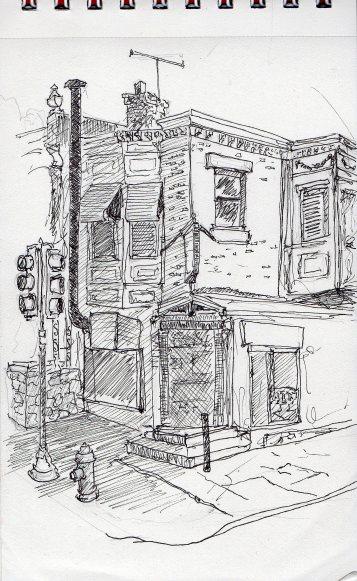 Street sketch 54th & pine June 1 2016