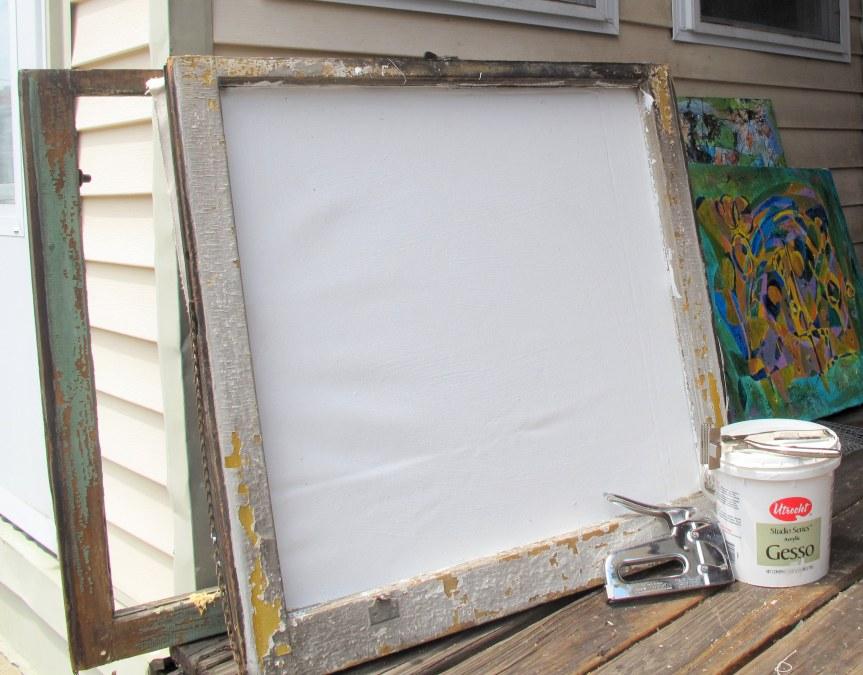 Window frame with canvas.JPG