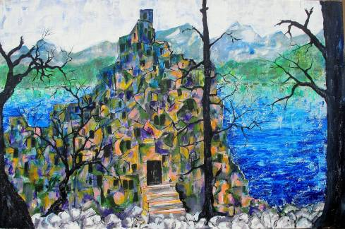#743 Ruins imaginary landscape.JPG
