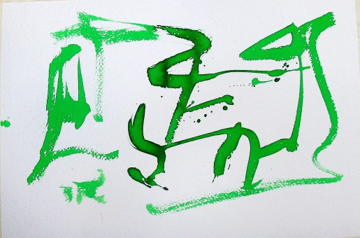 #952 Green graffiti